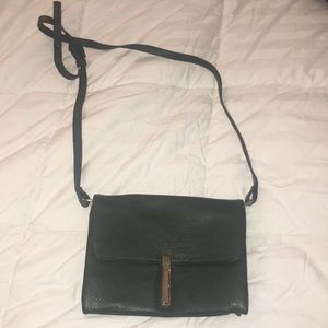 Vegan leather  green crossbody